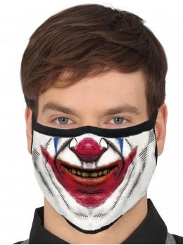 Masque tissu clown méchant