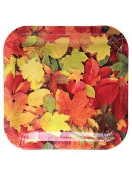 10 assiettes feuilles d'Automne 23cm
