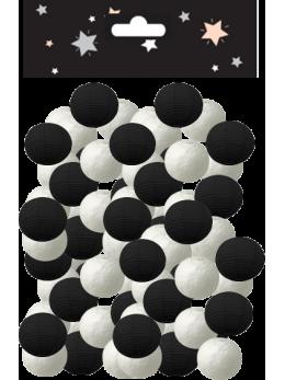 Sachet 100 boules dancing noires et blanches
