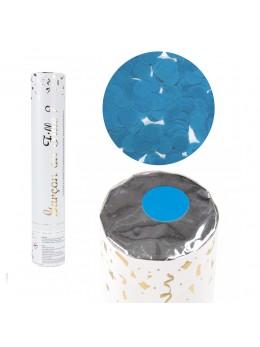 Canon à confetti gender reveal bleu 30cm