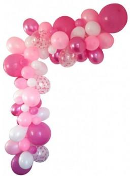 Guirlande de ballons organique rose