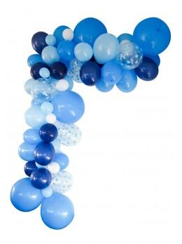 Guirlande de ballons organique bleu