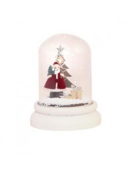 Déco en verre Père Noël led 11cm