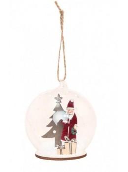 Boule en verre Père Noël 8cm