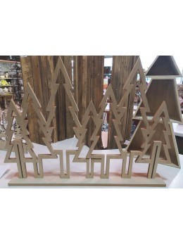 Centre de table noël géant bois sapins