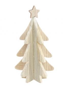 Sapin bois naturel 3D 30cm