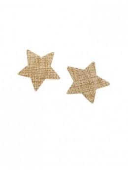 Lot 6 pinces à linge étoiles jute