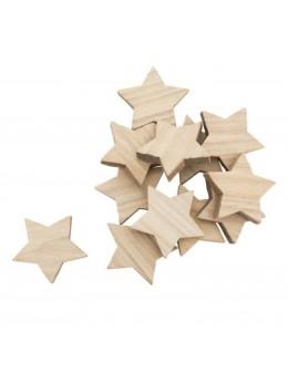 Sachet 12 confetti étoiles bois 4cm