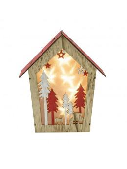 Maison lumineuse Noël avec led