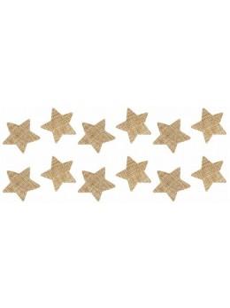 Sachet 12 étoiles jute 3cm