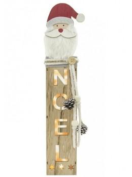 Support bois Noël lumineux 43cm