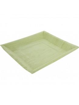 6 Assiettes feuille de palmier 24 cm carrée