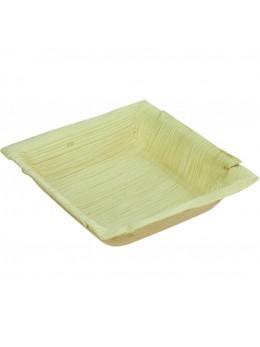 10 Assiettes feuille de palmier 17 cm carrée