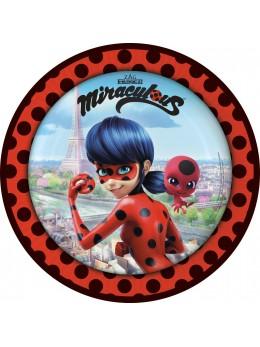 8 Assiettes Miraculous Ladybug ™ 23 cm