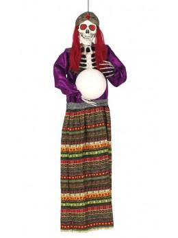 Déco squelette diseuse bonne aventure 90cm