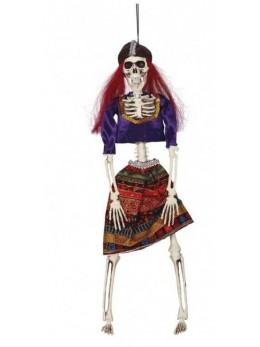 Déco mini squelette gitane