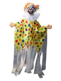 Clown à suspendre animé son et lumière 90cm