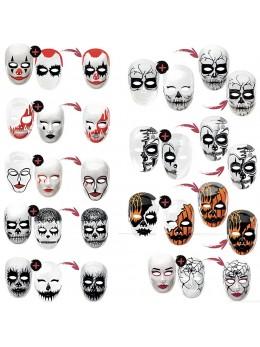 Lot de 2 masques plastiques Halloween