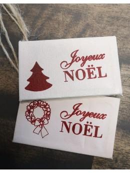 2 mini toiles Noël à suspendre 9cm