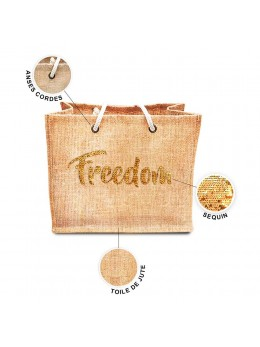 Sac jute sequin Freedom