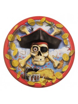 8 Assiettes Pirate Bounty 18 cm
