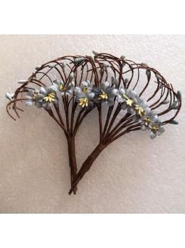Bouquet fleurs de pommier gris