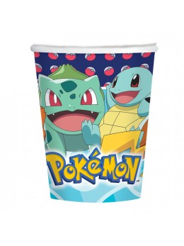 8 Gobelets carton Pokemon