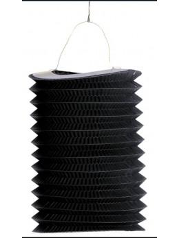 12 Lampions cylindriques noir 13cm