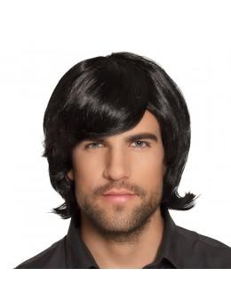 Perruque rétro brune homme