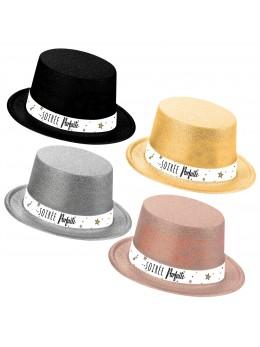 Lot de 6 chapeau plastique pailleté