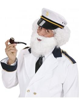 Barbe blanche avec moustache