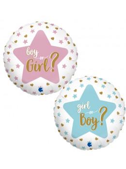 Ballon Gender reveal girl or boy