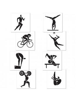 Déco 4 découpes sports olympiques