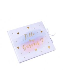 Livre d'or gender reveal fille ou garçon