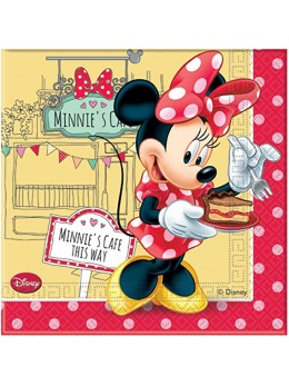 20 Serviettes papier Minnie café