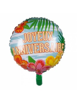 Ballon alu Joyeux anniversaire 45cm