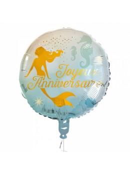 Ballon alu sirène anniversaire 45cm
