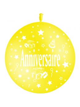 Ballon géant anniversaire jaune 60cm