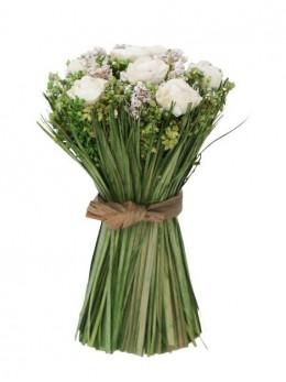 Mini bouquet de roses blanches 11cm