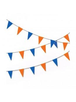 Guirlande triangle bleu et orange 10m