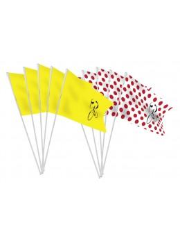 10 Drapeaux papier course cycliste