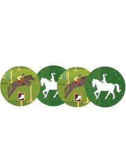 4 Décos cutout sport équitation