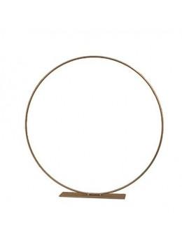Centre de table anneau métal or 30cm