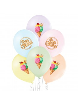 "6 ballons ""Ice cream summer"""