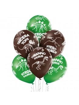 6 ballons dinosaures Trex