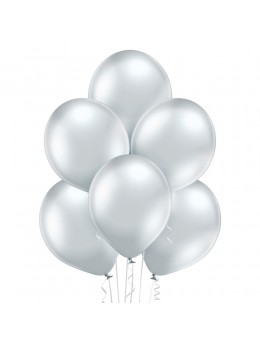 6 Ballons argent glossy