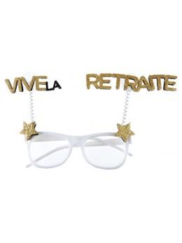 Lunettes Retraite paillette or