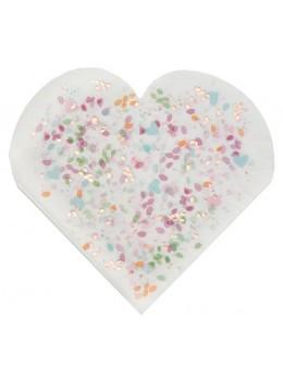 20 Serviettes papier mariage fleuri