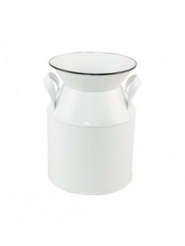 Pot à lait métal blanc 17 cm