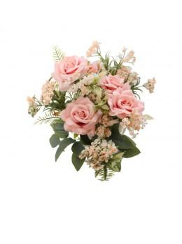 Bouquet de 9 roses avec feuillage